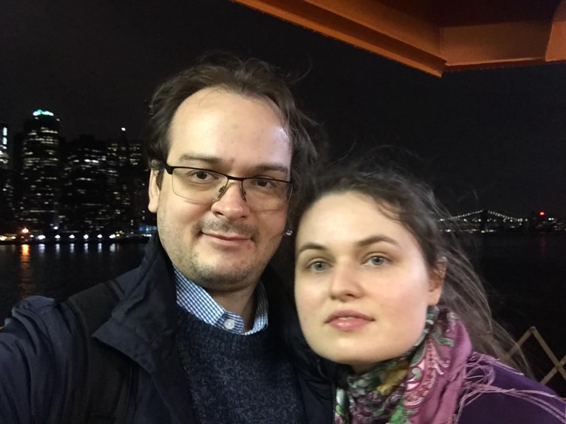 With my wife Anna in New York, 2019